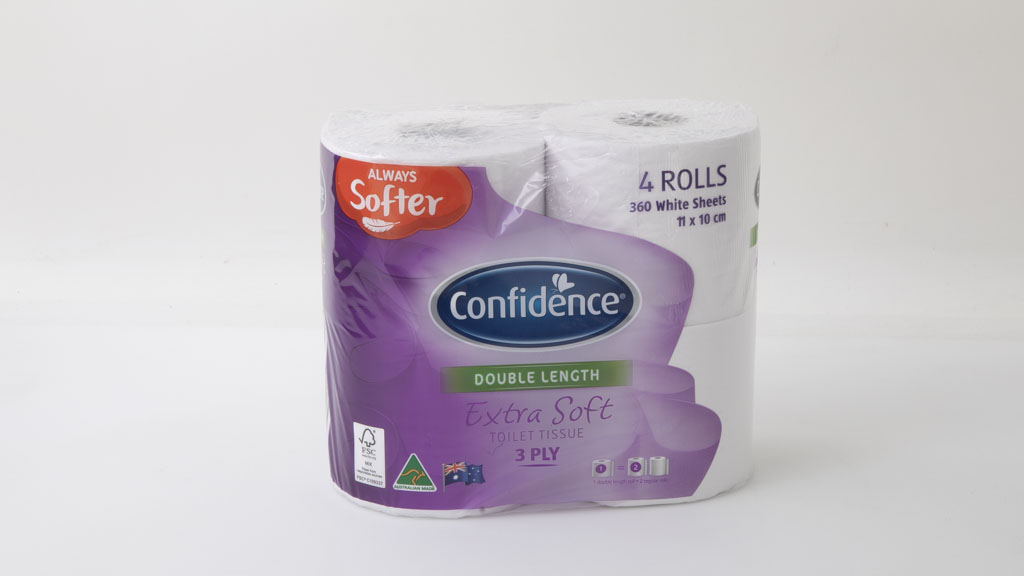 Aldi Confidence Extra Soft Toilet Tissue 3 Ply White Double Length 4 Rolls carousel image