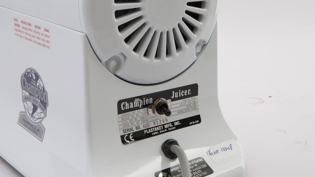 Champion 2000 - Juicer reviews - CHOICE