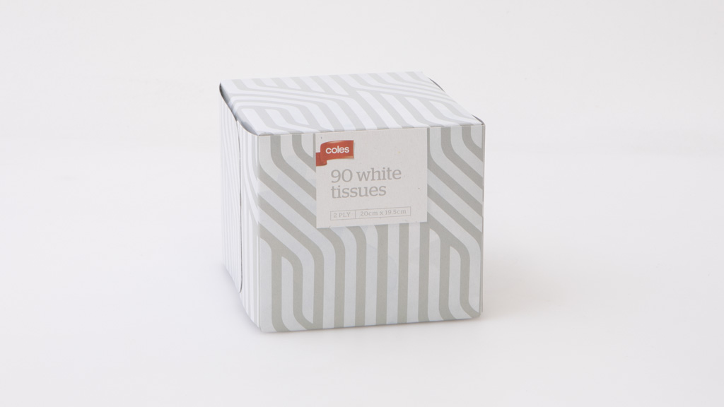 Coles 90 White Tissues 2 Ply