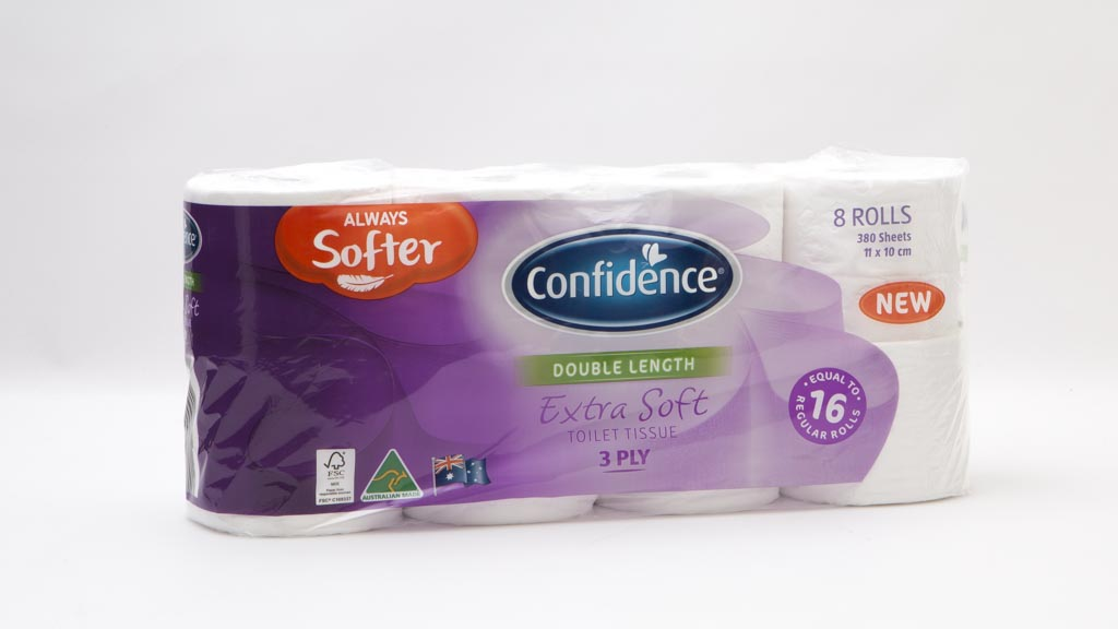 Confidence Double Length Extra Soft Toilet Tissue 3 Ply