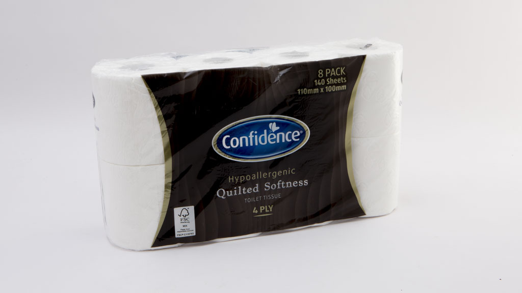 Confidence Hypoallergenic Quilted Softness Toilet Tissue 4 Ply