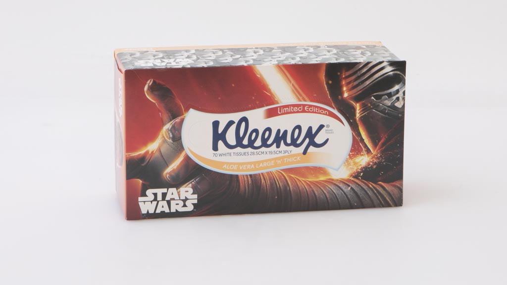 Kleenex Star Wars Limited Edition Aloe Vera Large & Thick 70 White Tissues 3 Ply