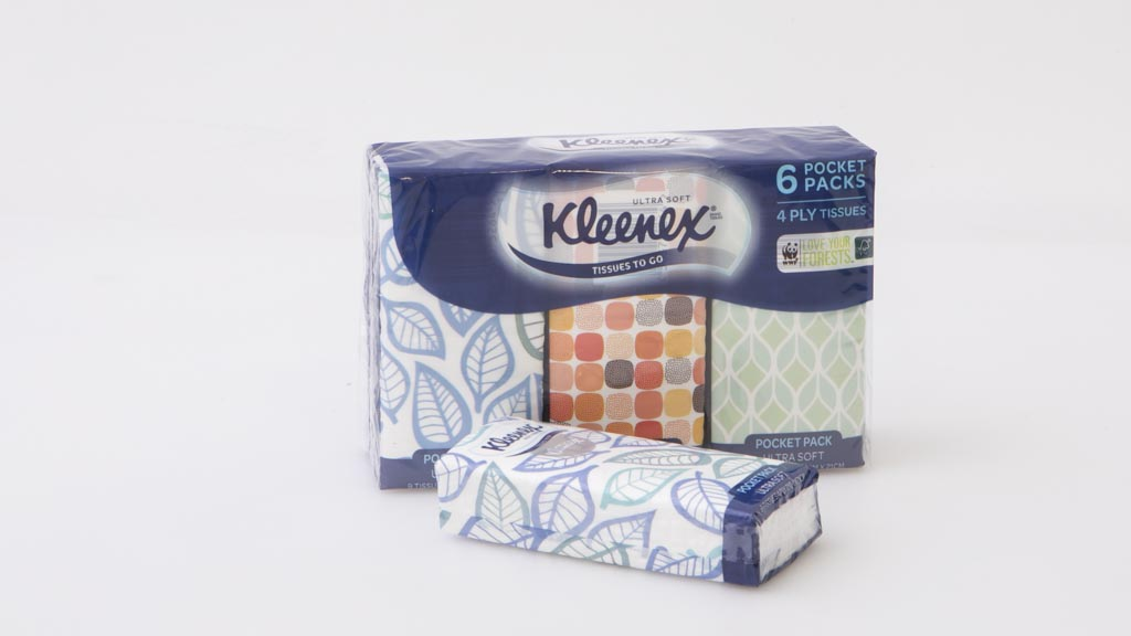 Kleenex Tissues To Go 4 Ply 6 Pocket Pack 9 Tissues