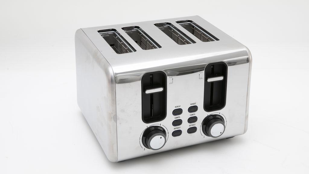 Kmart Anko 4 Slice Stainless Steel Toaster LD-T7009 carousel image