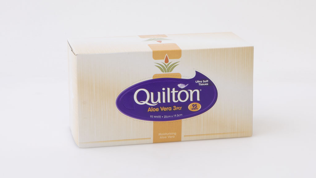 Quilton Aloe Vera 3 Ply 95 Sheets White Tissues