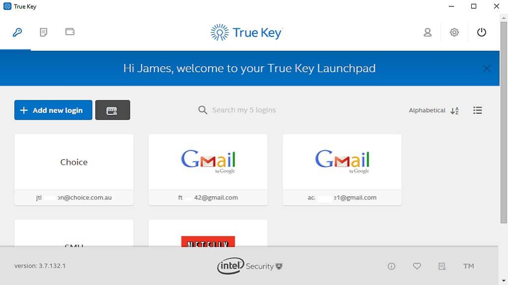 TrueKey Password manager - Password manager reviews - CHOICE