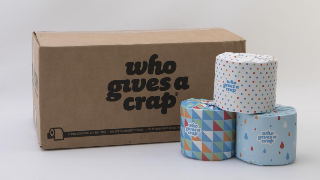 Very Who Gives A Crap 100% Recycled Toilet Paper 24 Rolls - Toilet  ZF34