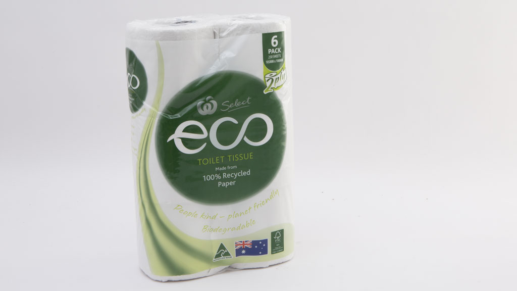 Woolworths Select Eco Toilet Tissue 2 Ply Made from 100% Recycled Paper